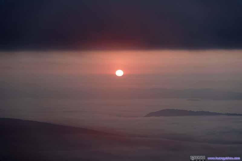 Rising Sun above Clouds