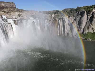 Rainbow by Shoshone Falls