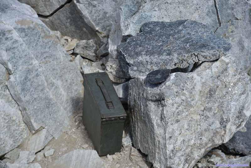 Box on top of Hyndman Peak