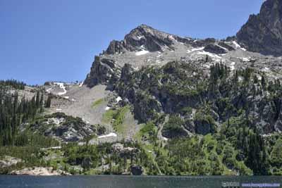 Hills by Alpine Lake