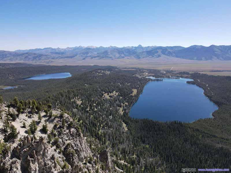 Pettit Lake and nearby Yellow Belly Lake