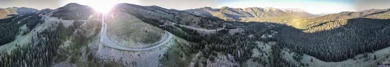Idaho Route 75 up Galena Summit