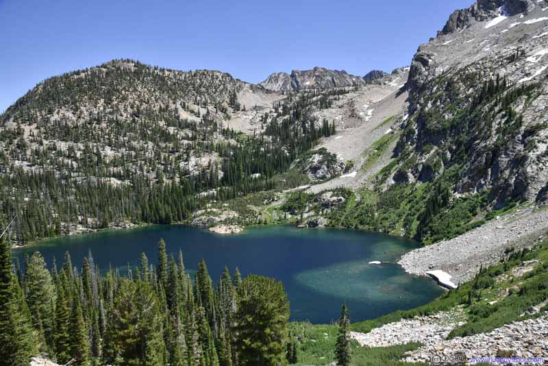 Overlooking Alpine Lake