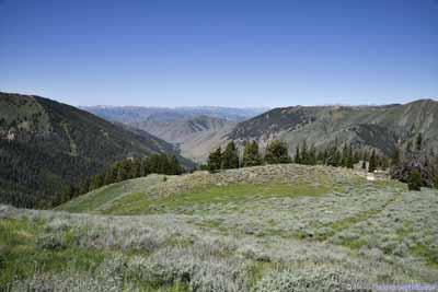Distant Mountains beyond Prairie
