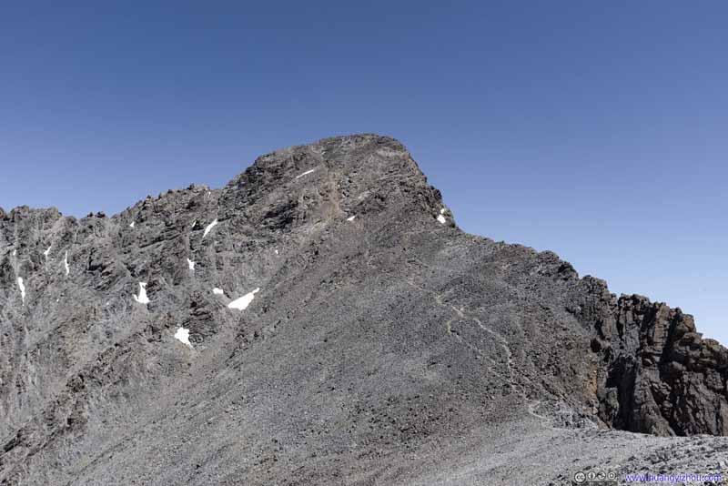Trail up Borah Peak