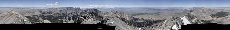 View around Borah Peak