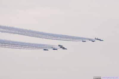 Navy Blue Angel and Air Force Thunderbird Flyover
