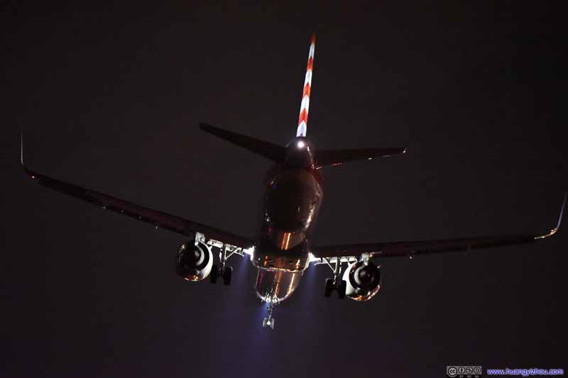 Plane Landing after Firework Show