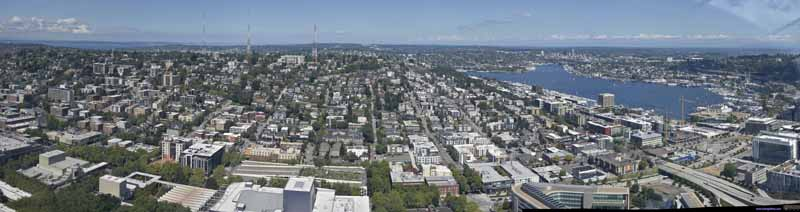 North Seattle from Space Needle