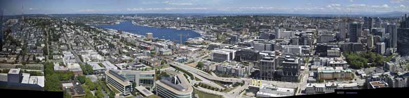 Northeast Seattle from Space Needle
