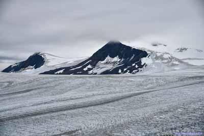 Mountains beyond Harding Ice Field