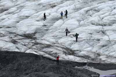 People on Harding Ice Field