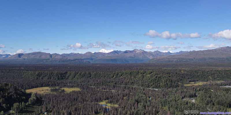 Distant Denali Mountains