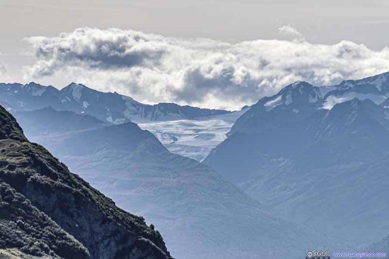 Distant Hunter Creek Glacier