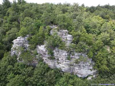 Rocks on Mountain Side