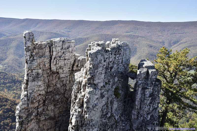 Rocks beyond Chimney Top