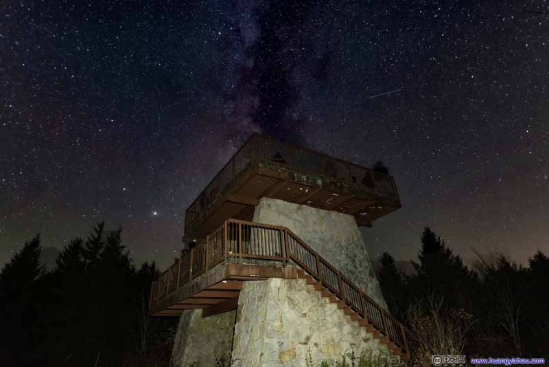 Starry Sky over Fire Tower