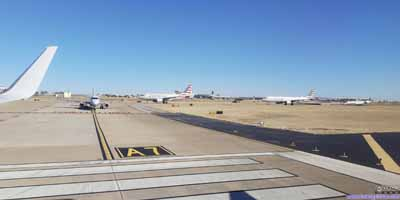 Planes in Line for Takeoff