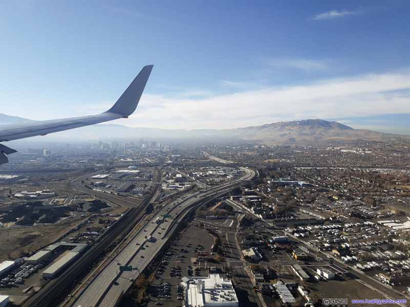 Final Approach into Reno Airport