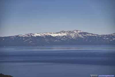 Distant Mount Rose across Lake Tahoe