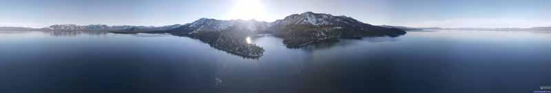 Overlooking Lake Tahoe outside Emerald Bay