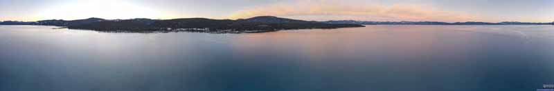 Drone Overlooking Lake Tahoe