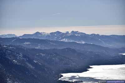 Distant Mountains beyond Lake Tahoe