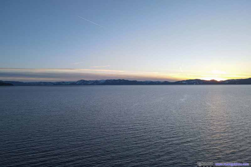 Sunset Glow over Lake Tahoe