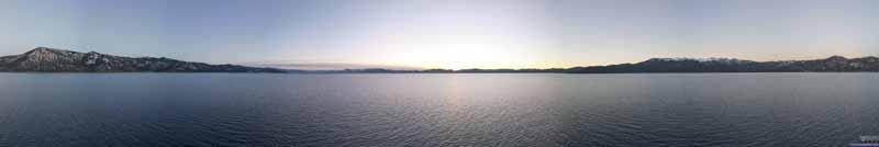 Drone Panoramic View of Lake Tahoe