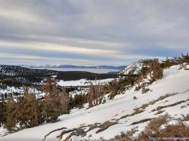 Distant Lake Tahoe