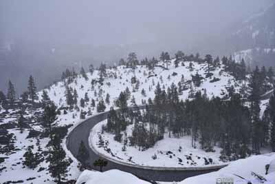 Roads up Donner Pass
