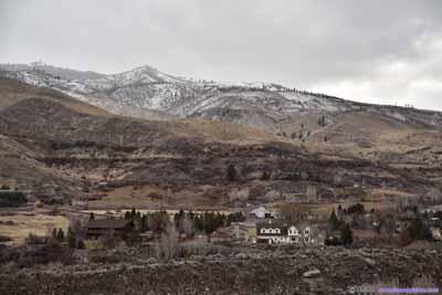 Village beneath Mountains