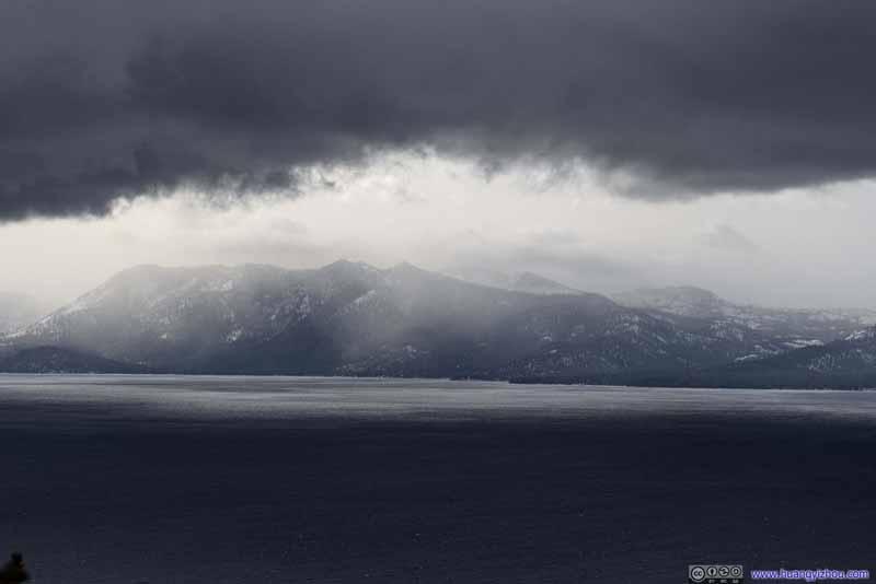 Mountains across Lake Tahoe
