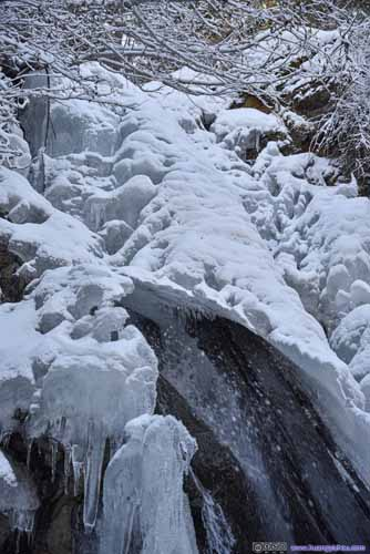 Ice by Waterfall