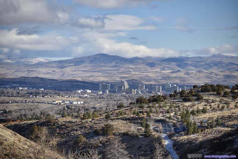 Distant Downtown Reno