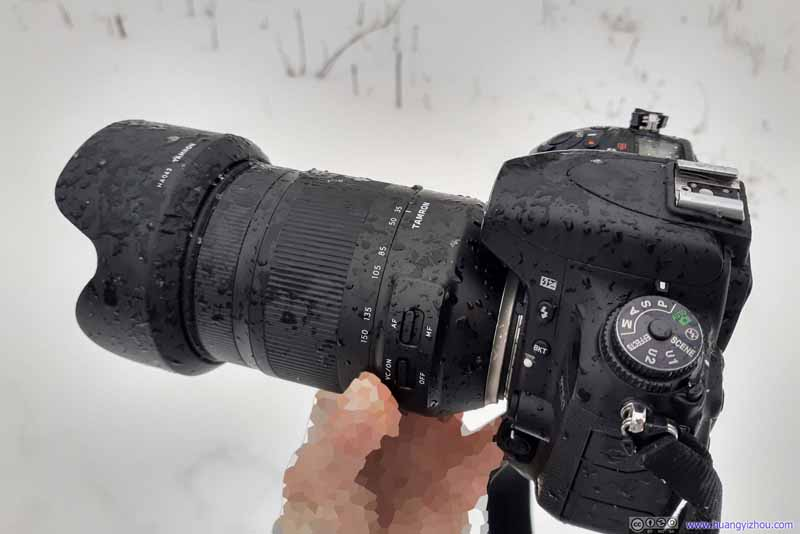 Frozen Rain on Camera