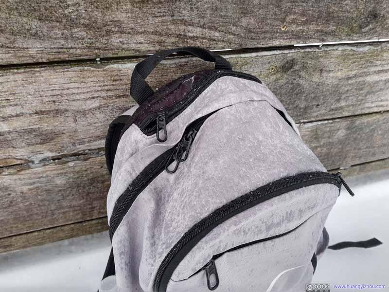 Frozen Rain on Backpack