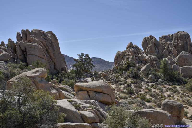 Opening in Boulders