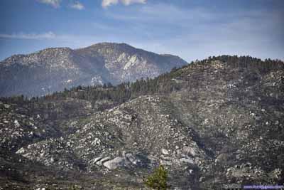 Suicide Rock before Mount San Jacinto
