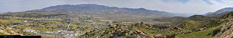Overlooking Valley between San Gorgonio and San Jacinto Mountains