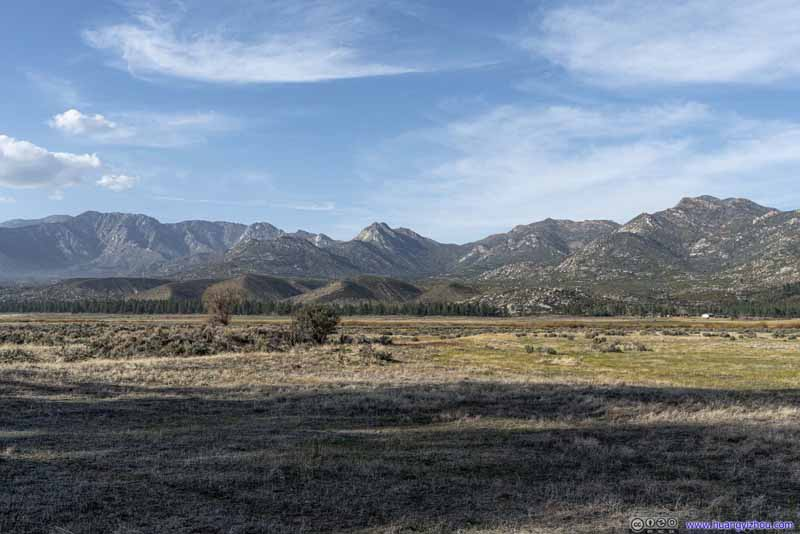 Farmland before San Jacinto Mountain Ranges