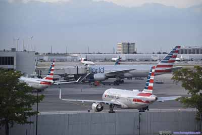 American Airlines Planes at Miami Airport
