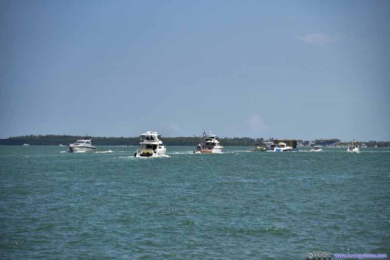 Boats Leaving Harbor