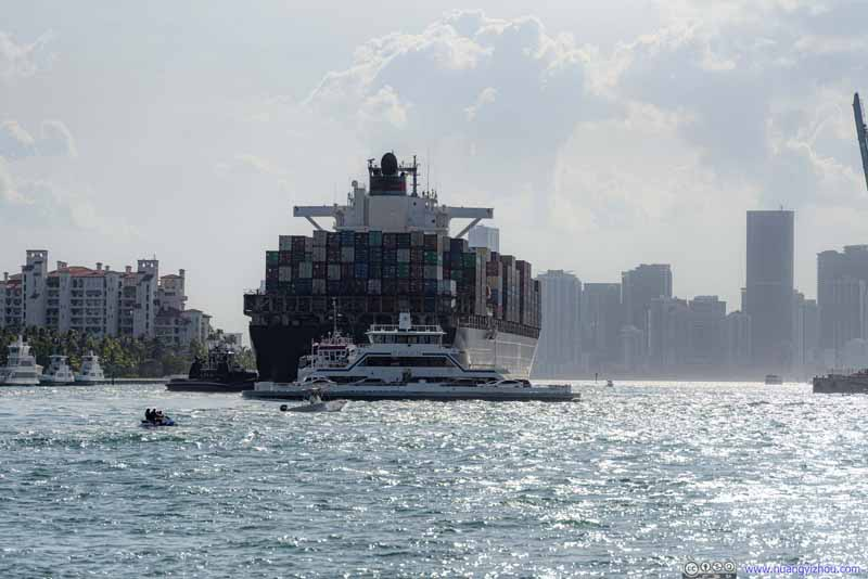 Cargo Ship Coming into Port