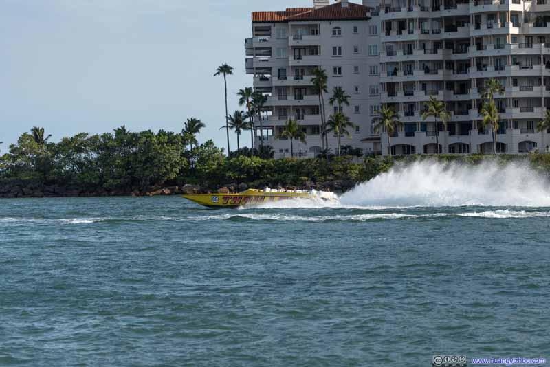 Tour Speedboat Leaving Port