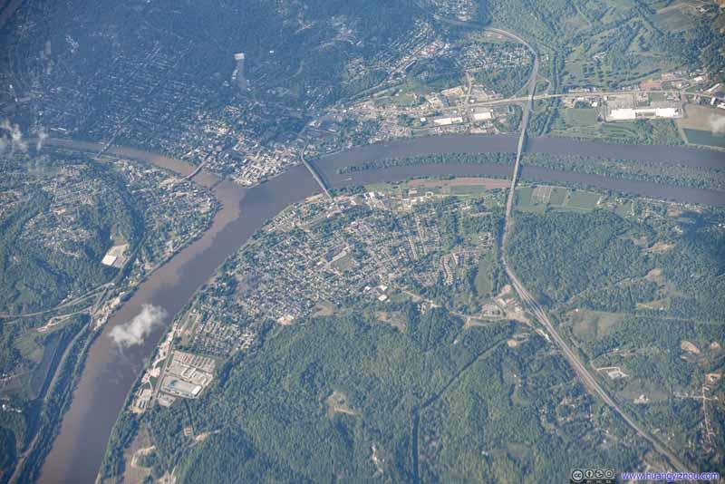 Muskingum River Joining Ohio River