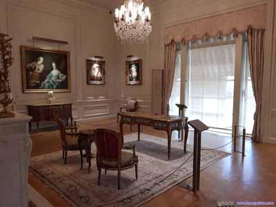 Furniture in European Art Gallery