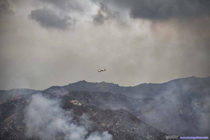 Helicopter Fighting Wildfire