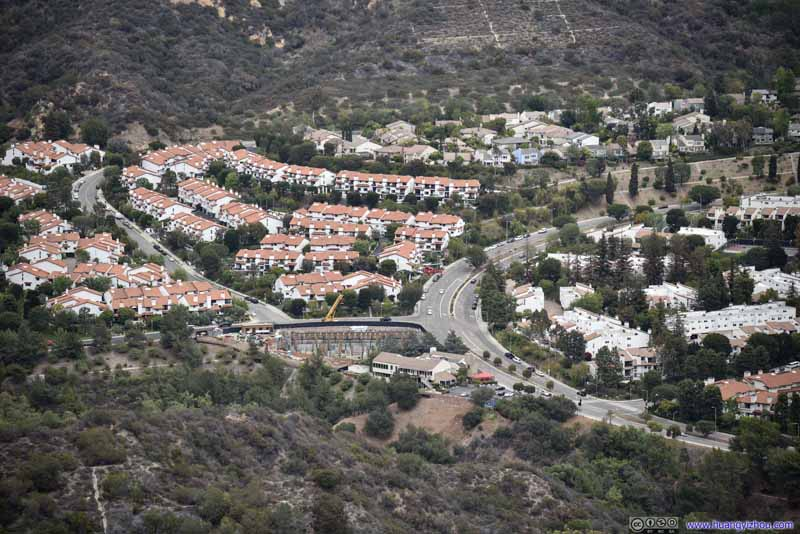 Homes Threatened by Wildfire