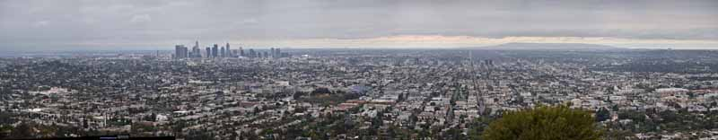 Griffith Observatory Overlooking Los Angeles